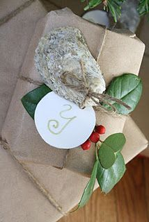 Oyster Shell gift tags
