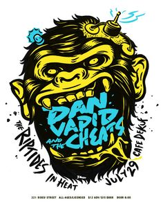 GigPosters.com - Dan Vapid And The Cheats - Riptides, The - In Heat