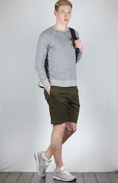 Shorts by Manastash Sneakers by M1400JGY New Balance  Daypack by nanamica Lightweight Sweater by Flistfia