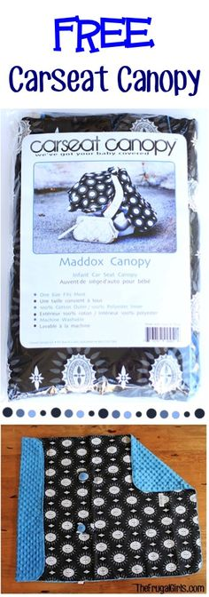 Free Carseat Canopy Cover for Baby! {just pay s/h} ~ these make such fun gifts for New Moms!!