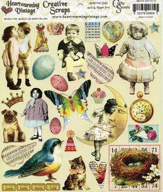Altered Fairy SCRAP SHEET - Fairy Scrap Sheet - Fairy Clip Art - Paper Craft Fairies - Faeries - Heartwarming Vintage Fairies