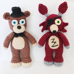 Five Nights at Freddy's FNAF CROCHET PATTERNS by OleksiRed on Etsy