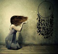 dreamcatcher, girl, hair, magic, photography