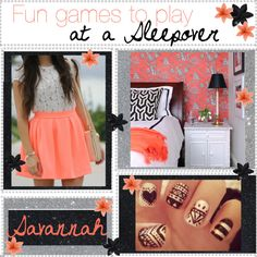 Fun games to play at a Sleepover Sleepover Activities, Activities To Do, Fun Games, Games To Play, Savannah Chat, Cute Outfits, Shopping, Collection, Polyvore