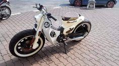 Custom Moped, Custom Motorcycles, Custom Bikes, Cars And Motorcycles, Honda Cub, Scooters, Cafe Racer Moto, Moped Scooter, Honda Bikes