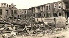 1927 Tornado   St Louis MO. Rear of Whittier St.