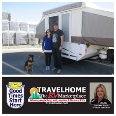 Congrats to Chris & Danielle on the purchase of their Rockwood 1640LTD #tenttrailer from Maureen! #Rockwoodrv #popupcamper #RVlife #camping #travel #vacation