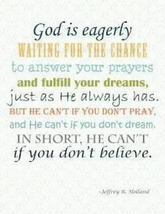 """Jeffrey R. Holland quote: """"We must constantly remind ourselves that He is God and we are not."""" Description from pinterest.com. I searched for this on bing.com/images"""