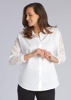 Crochet Sleeve Shirt