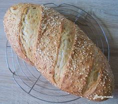 Zabpelyhes kovászos kenyér How To Make Bread, Grilling, Paleo, Baking, Food, Breads, Diet, Bread Rolls, How To Bake Bread