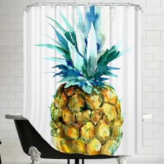 Americanflat Pineapple Shower Curtain