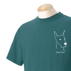 Great Dane Garment Dyed Cotton Tshirt by WryToastDesigns on Etsy, $20.00