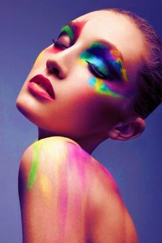 neon makeup | Tumblr
