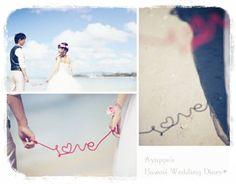 手作りアイテム赤い糸のフォト❤ の画像|Aya's Hawaii Wedding & DIY wedding items♡