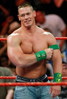I want to catch one of his armbands that he throws into the crowd!!! I would wear it forever or smell it until it didn't smell anymore!!!!                           John Cena