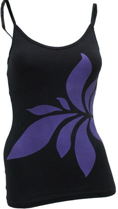 Squeezed Black Bra Cami With Violet Large Lotus on shopstyle.com #fitness #workout #yoga