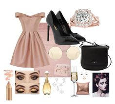 """Rose gold"" by projectalice5 on Polyvore featuring Chi Chi, Yves Saint Laurent, Lancaster, Victoria Beckham, Christian Dior, Umbra and Krosno"