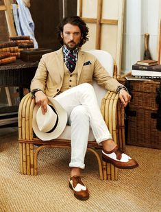 Thank you Ralph Lauren! Linen/cotton jacket in a taupe with white pants! I have a similar tie courtesy of Joshua T. Estilo Dandy, Sharp Dressed Man, Well Dressed Men, Look Fashion, Mens Fashion, Fashion Photo, Indie Fashion, Fall Fashion, Dandy Style