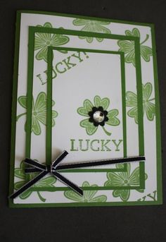 Lucky Day triple layer stamping St. Patrick's Day Card