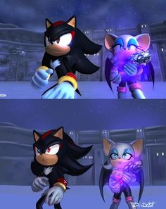 Shadow y Rouge 2006 Shadow And Rouge, Shadow And Amy, Sonic And Shadow, Sonic The Hedgehog, Silver The Hedgehog, Shadow The Hedgehog, Shadow Images, Shadow Pictures, Sonic The Movie