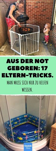 Aus der Not geboren: 17 Eltern-Tricks. Kinde… Born out of necessity: 17 parent tricks. You just have to know how to help yourself. Very easy: 17 clever tricks from parents for parents. Kids And Parenting, Parenting Hacks, Baby Shower Mixto, Diy Baby Shower Decorations, Ideias Diy, Baby Born, Baby Kind, Trendy Baby, Baby Sleep