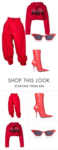 """""""Untitled #87"""" by celebluxy ❤ liked on Polyvore featuring Yves Saint Laurent, Balenciaga and MSGM"""