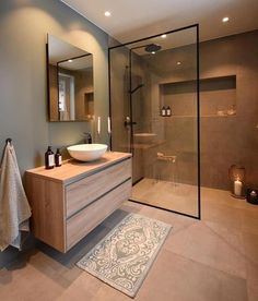 Cozy Bathroom Design Ideas To Help You Rileks Cozy Bathroom, Bathroom Goals, Small Bathroom, Bathroom Ideas, Beige Bathroom, Scandinavian Bathroom, Fitted Bathroom, Vanity Bathroom, Bathroom Layout