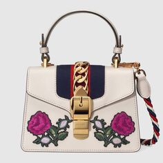 7f0a8afa435b2a Shop the Sylvie embroidered mini bag by Gucci. The Sylvie mini bag in a top