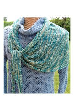 Debonnaire yarns Asymmetric Silk Scarf