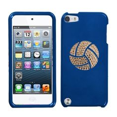 Blue and White Crystal Rhinestone Bling Bling Volleyball Logo for Ipod Touch 5th Generation Ipod Touch 5 32gb 64gb by Dazzle, http://www.amazon.com/dp/B00AD83TVQ/ref=cm_sw_r_pi_dp_MCuwrb1M180YW