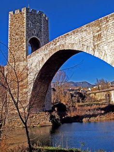 Besalú, The Romanesque Bridge In Catalonia.