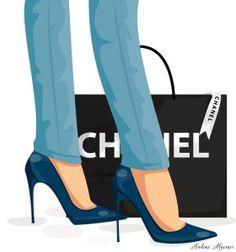 Illustration of High heels and Chanel #fashionillustration #chanel #heels