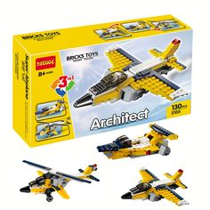 Decool 3105 Architect Series Yacht/Helicopter/Fighter Buidling Blocks Modern Minifigures Kids Toy For Gift Best Toys //Price: $US $7.81 & FREE Shipping //     #toyz24