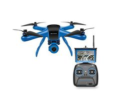 World Tech Toys Elite Raptor HD Gimbal Video Camera 2.4GHz 4.5 Channel RC Quadcopter, Blue/Black, 12.5 x 12.5 x 7.25 - http://www.dronefreeapps.com/product/world-tech-toys-elite-raptor-hd-gimbal-video-camera-2-4ghz-4-5-channel-rc-quadcopter-blue-black-12-5-x-12-5-x-7-25/