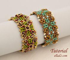 Tutorial Inka Bracelets Beading pattern PDF by Ellad2 on Etsy