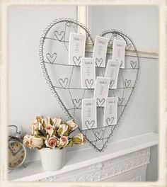 Large Silver Heart Table Plan Card Holder  vintage amethyst #TKMaxxBridalEvent