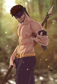 Savage Cyclops is the best Cyclops. | Turns Out Superheroes Make Seriously Sexy Pin-Ups