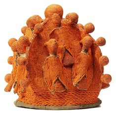 Yoruba Beaded Crowns ARCHIVES, Nigeria possible inspiration for tapestry weaving? Afrique Art, Native Beadwork, Folk, Textiles, Arte Popular, African Design, Tapestry Weaving, Aboriginal Art, Tribal Art