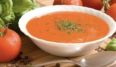 Zuppe veloci: pomodori con crema di formaggio e crostini di pane | Cambio cuoco