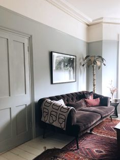 Monday Inspiration: How We React Emotionally To Colour - Mad About The House Room Wall Colors, Room Color Schemes, Living Room Colors, Living Room Paint, Living Room Designs, Living Room Decor, Living Spaces, Sage Living Room, Farrow And Ball Living Room