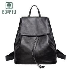 c09dd8d8ebc3 BOYATU Bagpack Mochila Bags for Women 2017 Genuine Leather Backpack  Feminina Sac A Dos Femme Vintage Back Pack Teenage Cantasi