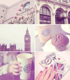 Starbucks, I ♡ London, coffee, Big Ben, rose, Muffin ♡, Britain, old fashioned, love, capital, traveling, journey - Ich liebe London, Kaffee, Rose, Muffin, England, altmodisch, Liebe, Hauptstadt, reisen, Reise