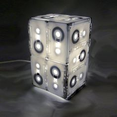 Rewind - Cassette Tape - Table lamp by RawDezign $40.78 (approx.) #recycle #upcycle #repurpose