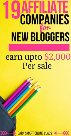 19 Amazing Affiliate Programs for Bloggers. #makemoneyblogging #affiliatemarketing #bloggingtips #blogging