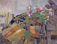 Edouard Vuillard - Le Pot de fleurs [Pot of Flowers] about 1900 - 1901