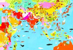 Christopher Corr is a travel illustrator, specialized in gouache paints East Asia Map, Southeast Asia, Gouache Illustrations, World Map Painting, Globe Art, Street Art, Art Prints, Illustrator, Learning Tools