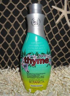 2013 Swedish Beauty   Free Thyme   Intensifier Tanning Lotion. Has witch hazel which is good for your skin and is in the organic line of Swedish beauty.