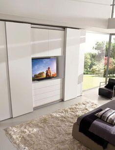 New Contemporary Bedroom Door Design Ideas Wardrobe Design Bedroom, Door Design Interior, Bedroom Closet Design, Tv In Bedroom, Modern Bedroom Design, Bedroom Doors, Contemporary Bedroom, Sliding Door Wardrobe Designs, Wardrobe Doors