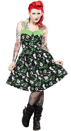 Amazon.com  Women s Sourpuss Clothing Horror Peggy Dress S  Clothing 9f7c44497