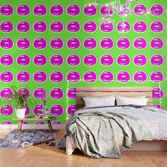 Buy Kiss Me #buyart #popart #kissme #society6 Wallpaper by beebeedeigner. Worldwide shipping available at Society6.com. Just one of millions of high quality products available.